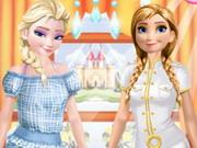 Elsa And Anna Work Dress Up